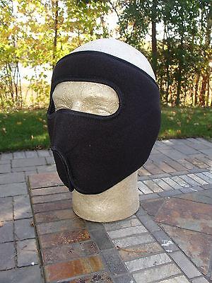 Fleece Full Face Mask Solid Black Warm Winter Ski Biker Hunting Hiking Atv