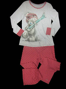 Girls dressing gown nightie pyjamas ME TO YOU Tatty Teddy Nightwear ex store M&S