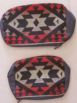 Southwestern Design Red, Black Tan Cosmetic, Jewelry Or Multi-use Bags - 2