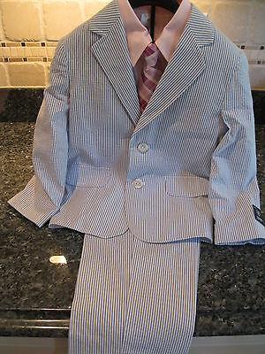 4 Izod Boys Blue & White 4pc Suit Set $85