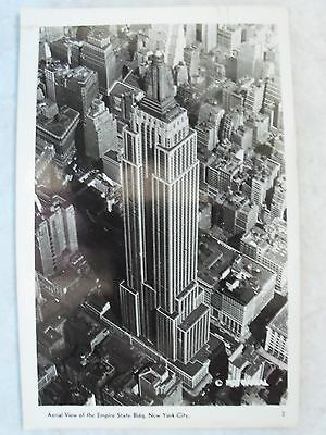 Rppc  Aerial View Of The Empire State Bldg New York City  Real Photo Postcard Ny