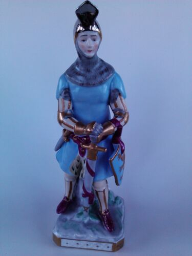Antique Porcelain Voight Brothers Sitzendorf Germany soldier Knight figurine