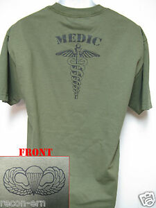 AIRBORNE-T-SHIRT-MEDIC-COMBAT-ARMY-HOOAAAHHH-NEW