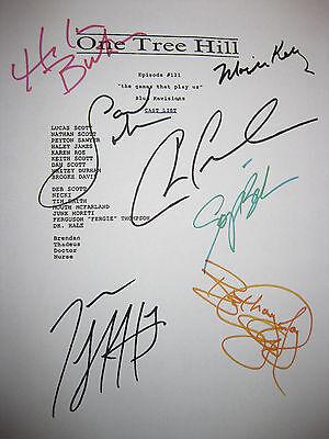 One Tree Hill Signed TV Script Chad Michael Murray Lafferty Burton Bush reprint