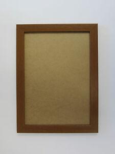 teak effect 10 x 14 picture photo frame to hang ebay. Black Bedroom Furniture Sets. Home Design Ideas