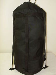 SLEEPING-BAG-COMPRESSION-STUFF-SACK-Black-6-Strap-GENUINE-US-Military-Issue