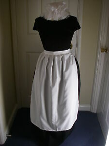 ADULTS VICTORIAN MAID COSTUME SKIRT  APRON  MOP HAT   POST FREE