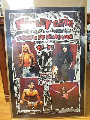 Motley Crue Rock Poster 1992 Vintage Decade Of Decadence