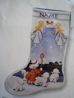 Christmas Sunset Crewel Embroidery Stitchery Stocking Kit,little Shepherd,2031