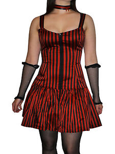 Phaze-Clothing-Red-Black-Striped-Josie-Strappy-Gathered-Zipped-Mini-Dress