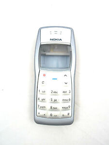 Nokia 1100 1108 GSM Complete Cellphone Housing With Keypad Grey Faceplate Door