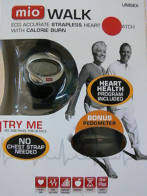Mio Walk Ecg Accurate Strapless Heart Rate Watch / Calorie Burn & Pedometer