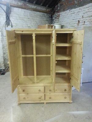 Old Mill Furniture Arizona Triple 4 Drawer Robe Solid Pine Lt Oak No Flat Packs