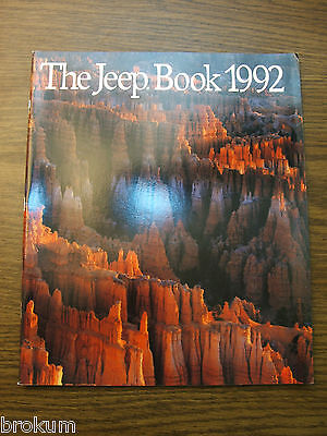 1992 JEEP SALES BROCHURE THE JEEP BOOK 56 PAGE WRANGLER CHEROKEE COMANCHE MINT