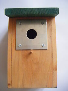 2 Bird Box Protection Plates With 25mm Hole