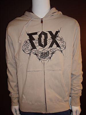 Fox Racing Razor Barb Zip Up Hoody Stone, Large