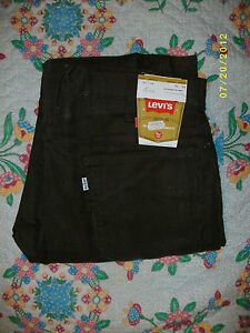 VINTAGE-1970s-Levis-519-Brown-Cords-MADE-IN-USA-Brand-NEW-Never-Worn-34-x-34