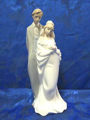 LOVE ALWAYS WEDDING BRIDE AND GROOM PORCELAIN FIGURINE NAO BY LLADRO  #1437