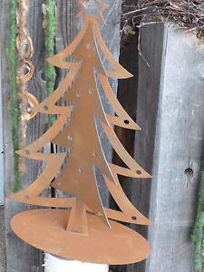 Edelrost tannenbaum baum rost eisen metall weihnachten - Metall baum deko ...