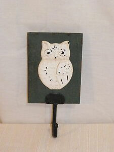 New Owl Bird Wall Hanging Key Holder Coat Hook Hanger