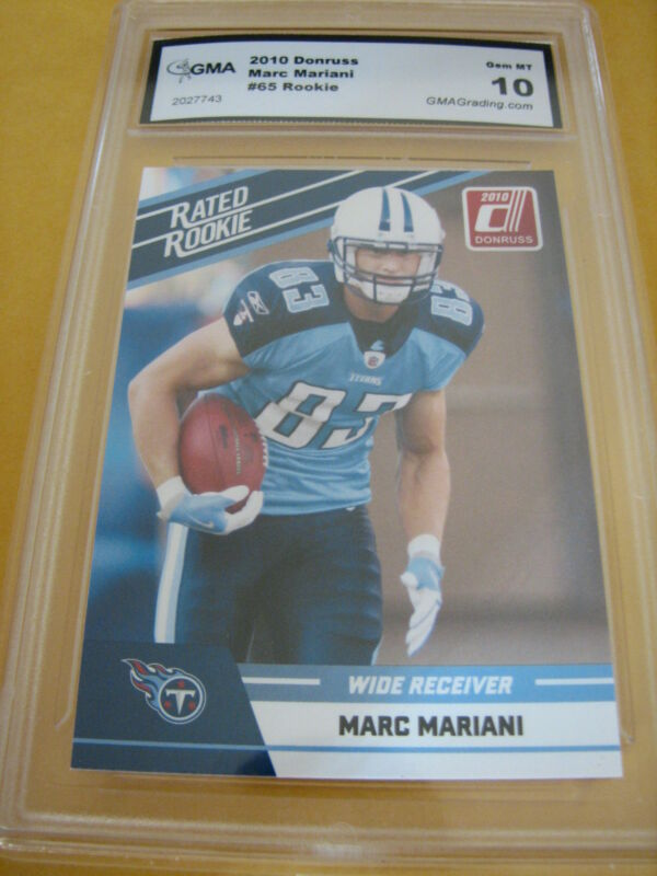 MARC MARIANI TITANS 2010 DONRUSS RATED  ROOKIE RC # 65 GRADED 10
