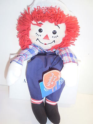 """Raggedy Andy Puppet By Applause / Hasboro 16"""" Doll Brother of Ann New NWT Rare"""