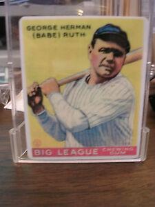 R&N China Co. Babe Ruth Porcelain Card,