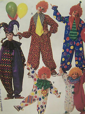 McCall's Clown Costume pattern #3306 Child sizes 7-8 easy new uncut Halloween  - Children's Halloween Crafts Easy
