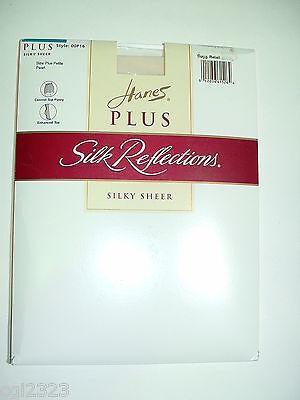 Hanes Plus Petite P16 Silk Reflections Pantyhose Pearl