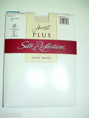 Hanes Plus Petite P16 Silk Reflections Pantyhose Pearl