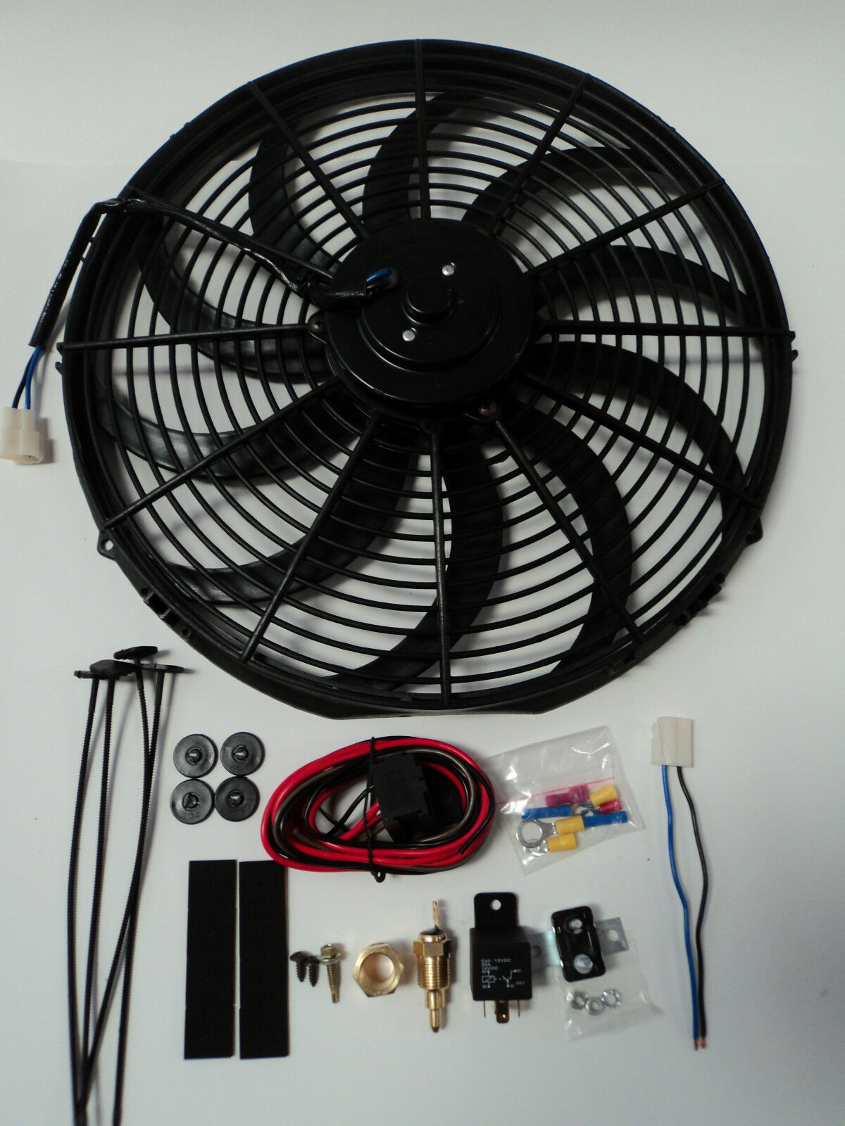 16 U0026quot  Electric Fan 3000 Cfm   Wiring Install Kit Complete
