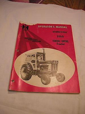International 1466 Tractor Original Ih Ihc Red Operators Manual