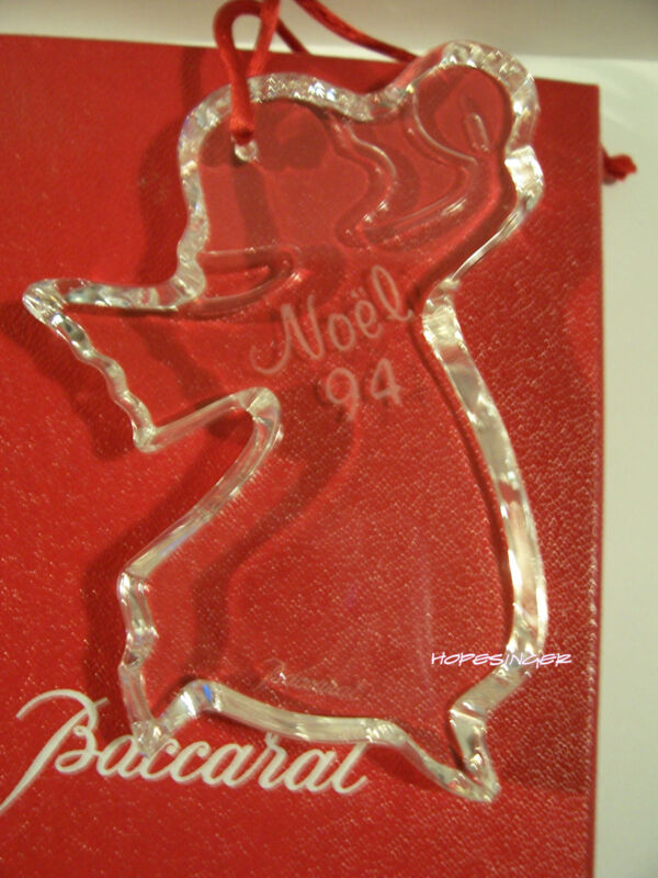 RARE NEW in BOX w/ pouch BACCARAT Crystal 1994 NOEL Ornament FREE USA Shipping