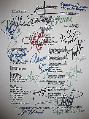 Days Of Our Lives Cast Signed TV Script Mint Condition Autographs Time reprint