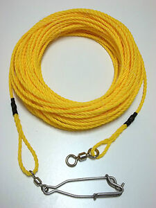 50-ft-Spearfishing-floating-line-float-rope-scuba-diving-dive-competition-swivel
