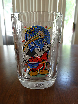 Vintage 2000 MCDONALDS & DISNEY Epcot Glass FRANCE 1 MICKEY MOUSE