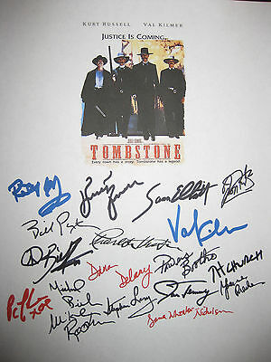 Tombstone Signed Movie Script X18 Charlton Heston Paxton Russell Elliott reprint