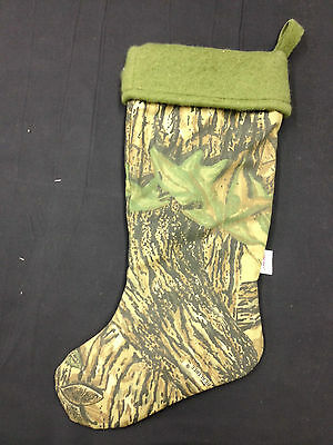 Realtree Camo Christmas Stocking Fleece Liner Comeaux Caps 20 Inches Tall