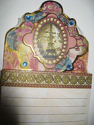 Punch Studio Paris Eiffel Tower Embellished & Jeweled Note Pad. Beautiful