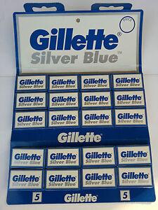 100 Gillette Silver Blue Double Edge Razor Blades Made in Russia