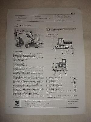 DDR Werbung Reklame Prospekt Datenblatt Bagger Raupenbagger K 606 Polen 1977