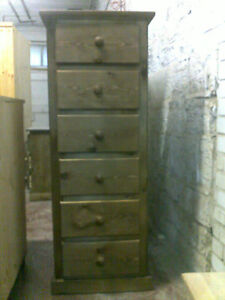 ANTIQUE-WAXED-PINE-AYLESBURY-6-DRAWER-NARROW-CHEST-WALNUT-WAX-NO-FLAT-PACKS