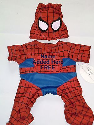 Teddy Bear Clothes Fit Build A Bear Or Similar Spider Bear Hero Personalised