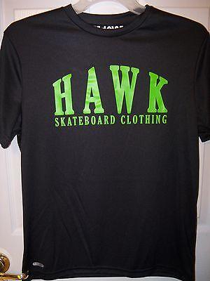 Tony Hawk Skateboard Black Green Shirt Moisture Wicking Wick Mens Size Large