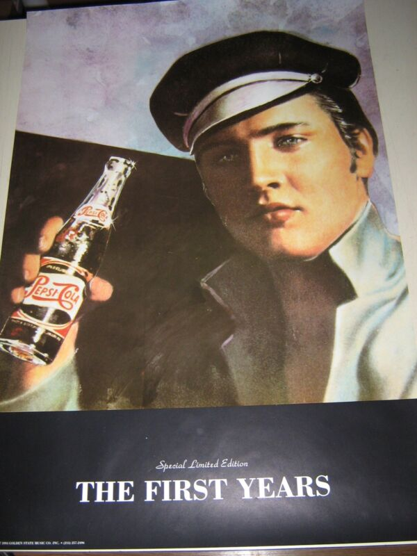 """Elvis Presley / Pepsi Poster..Limited edition / """"1994"""" / 24 X 36"""" Exc. New cond."""