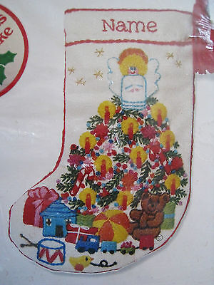 Christmas Sunset Crewel Stitchery Stocking Craft Kit,baby's Fantasy, 7.5,193