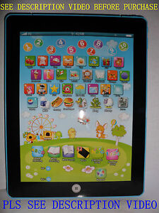 Children English Learning Computer Tablet Education For Kids Gift (IPAD DESIGN )