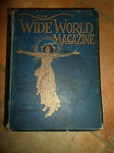 RARE-1899-The-Wide-World-Magazine-Vol-3-HB-Book-ILLUSTRATED-April-Sept-1899