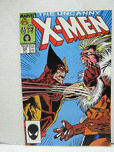 NM-M-Uncanny-X-MEN-222-Marvel-Comic-Book-Sabretooth-Hi-Grade-1980s-L8151-B