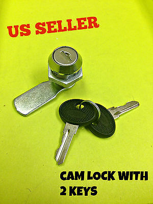 Lot Of 10 Cam Lock File Cabinet Mailbox Desk Drawer Cupboard Locker 2 Keys 90